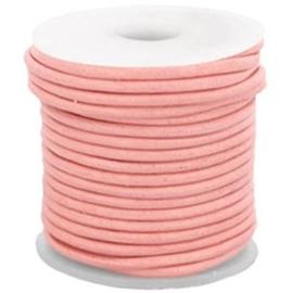 50 cm DQ Leer 3 mm Peach Bud Pink