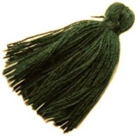 2 x Kwastje Dark Green 3 cm