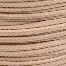 1 meter sieradenkoord c.a. 5 x 3mm kleur Cuba Sand