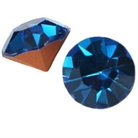2 x Preciosa SS 39 puntsteen (8 mm) Capri blue