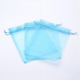 50 stuks organza zakjes 13 x 18cm licht blauw