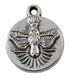 10 stuks Tibetaans zilveren bedeltjes vogel 16 x 13 x 2mm gat: 2mm