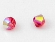 10x Swarovski kristal bicone Padparadscha AB 4mm