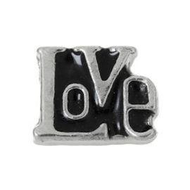 2 x Floating Charms Love Letters Antiek Zilver 7×5 mm ♥