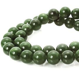 20 x half edelsteen kraal  top Quality Jade Dark Green 6 mm