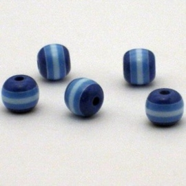25 st   Acryl ronde regenboog kraal  8 mm