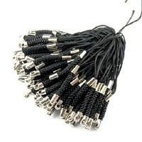 25 stuks koortjes voor aan een telefoon o.i.d zwart 75mm