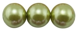 20 x prachtige glasparel kleur: Yellow Green12mm