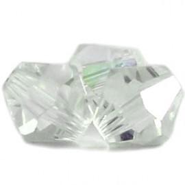 10 x Preciosa Kristal Bicone kraal 8 mm heel licht grijs, bijna clear