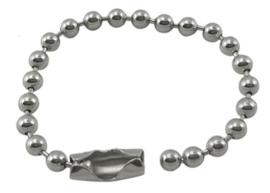 10 x Ball chain ketting met sluiting 2mm x 10,5cm incl. sluiting platinum