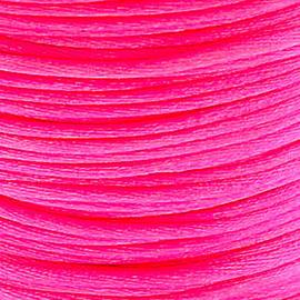 2 meter Macrame Satijndraad 1.0 mm Neon Pink