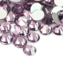 10 x Swarovski light amethyst plat strass steentje 6mm