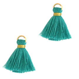 2 x Kwastjes 1.5cm Gold-viridian green