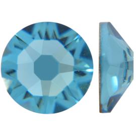 10 x  Swarovski plat strass steentje 5mm Blue