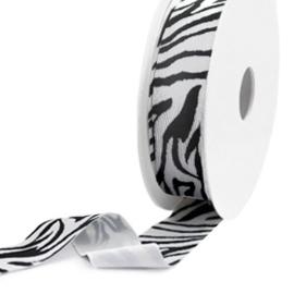 c.a. 50 cm Elastisch lint Ibiza 25mm Black-white