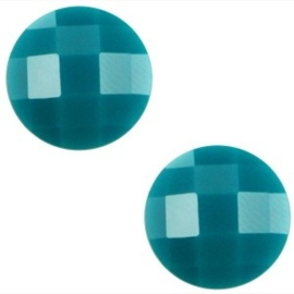 2 x Basic cabochon 10mm Deep blue zircon