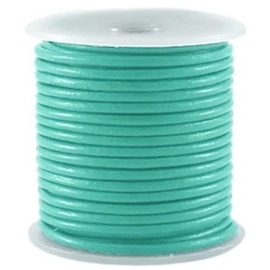 50 cm DQ Leer rond 2 mm Bright emerald green