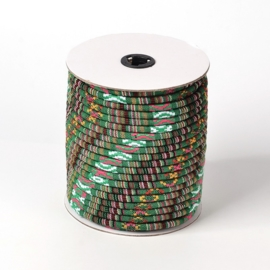 20 cm Trendy gestikt Aztec koord 6mm DarkGreen