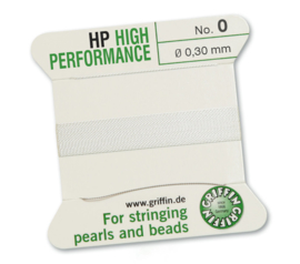High performance Griffin met naald  No: 0 Ø 0,30mm wit