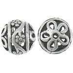 Prachtige Tibetaans zilveren Bali kraal 18 x 17,5 x 17,5mm, Gat: 1.5mm