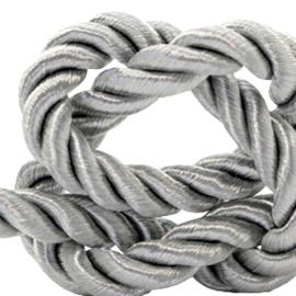 1 rol met 5 meter trendy koord weave c.a. 10mm Grey (kies voor pakketpost)