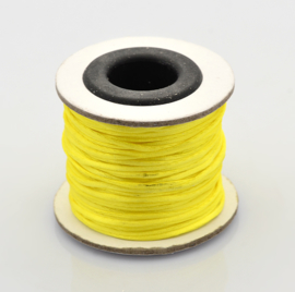 Rol met 30 meter satijn koord Nylon Marcramé koord 1mm kleur yellow