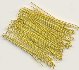 100 stuks Kettelstiften goud 50mm