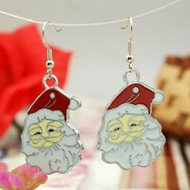 Prachtige kerstman oorbellen! 52m lang bedel: 34 x 23,5mm