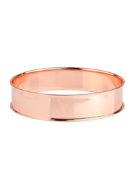 Metalen bangle armband blank 21,5cm, 15,5mm breed rosegold