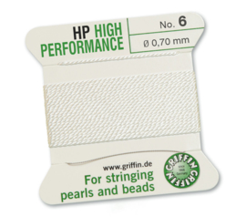 High performance Griffin met naald  No: 6 Ø 0,70mm wit