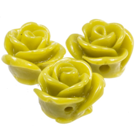 1 x   Acryl Roses (Olive Green) 11 mm