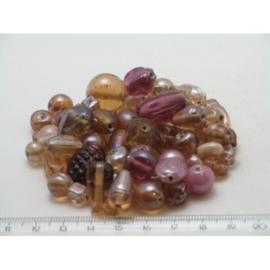 100 gram luxe glaskralenmix in diverse tinten mix 29