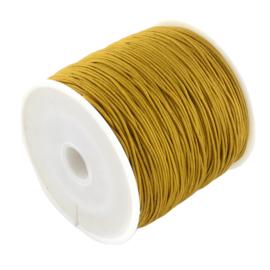 1 rol 90 meter gevlochten nylon koord, imitatie zijden draad 0,8mm golden rot