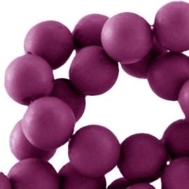 10 stuks Acryl kralen mat rond 12mm Flint purple