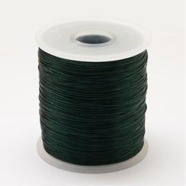 5 meter rond elastisch draad 0,2mm  Dark Slate Green