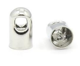 6 x eindkapje Platinumkleur  7 x 4mm doorsnede: 3,5mm oogje: 2mm