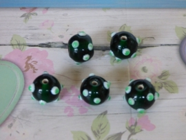 3 x High Quality Glass Hand Made Bead 140 diam. ca. 15mm.