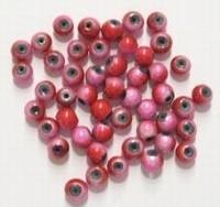 20 stuks miracle/3-D kraal rond rood roze 4 mm gat 1mm