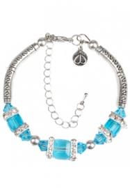 DoubleBeads Creation Mini sieradenpakket armband met metalen kralen en glaskralen