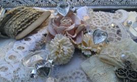 Per stuk prachtige basis ring zilver, verstelbaar en zelf te beplakken met Strass hartmotief