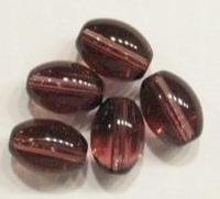 10 Stuks Glaskraal ovaal transparant paars 12 mm