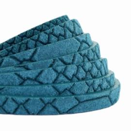 Per 20 cm Plat 5mm DQ leer Reptile Mosaic blue
