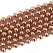 50 cm rose gold kleur Ball Chain ketting dikte 1,2 mm