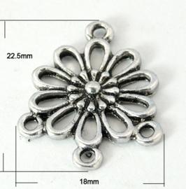 1 x hang/verdeler 3/1 zware kwaliteit, leuk voor rozenkrans Tibetaans zilver 18 x 22,5 mm Gat: 1,5mm