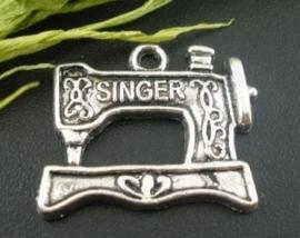 4 x tibetaans zilveren singer naaimachine 20x18 mm