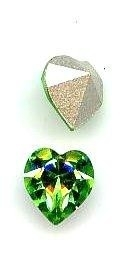 Preciosa  punt hart crystal 6mm groen