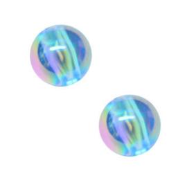 50 x Kinderkralen Acryl AB Glans Lichtblauw 6 mm