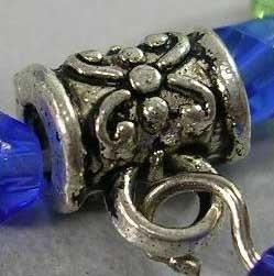 10 x Tibetaans zilveren hanger bails 5,5 x 7,5mm oogje 2,5mm