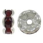 50 stuks Verzilverde Kristal Rondellen 7 mm Bordeaux Rood