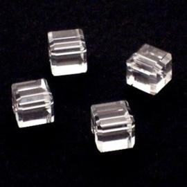 3x Preciosa Handgeslepen kristal kraal 8mm transparant
